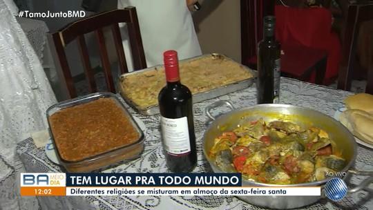 Terreiro de candomblé reúne amigos e vizinhos em almoço na Sexta-feira Santa