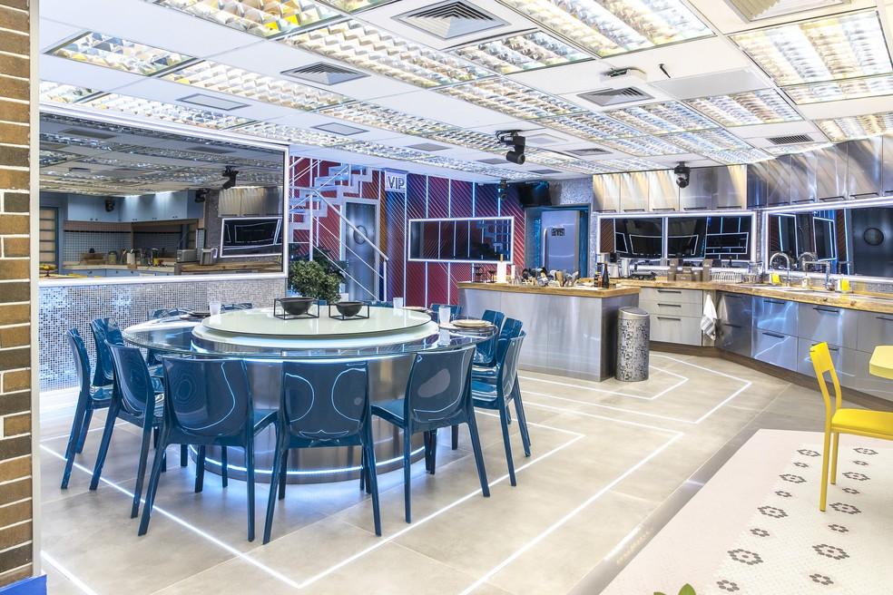 Cozinha do 'BBB21' tem Xepa e Vip lado a lado — Foto: Fábio Rocha/Globo