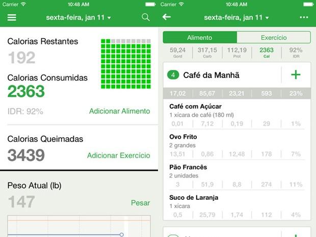 Aplicativo Fat Secret ajuda usuário a contar calorias (Foto: Reprodução)