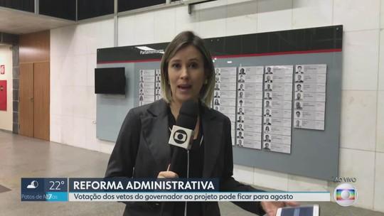 ALMG se reúne para discutir vetos do governador à reforma do estad
