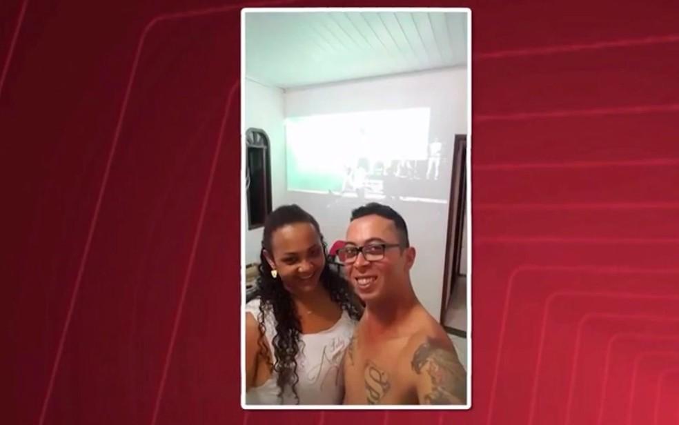 João Paulo de Souza Silva e Niely Cristina Passos Silva foram mortos na porta de casa, em Feira de Santana (Foto: Reprodução / TV Subaé)