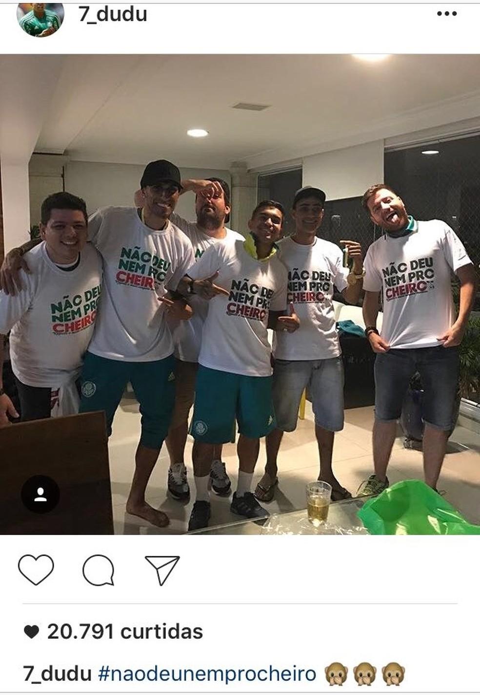 Dudu ironiza Flamengo em rede social — Foto: reprodução / Instagram