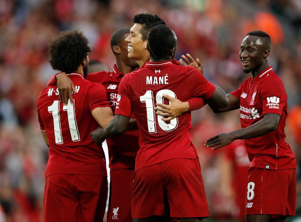Firmino jogou nesta terça e fez um gol pelo Liverpool (Foto: Reuters )