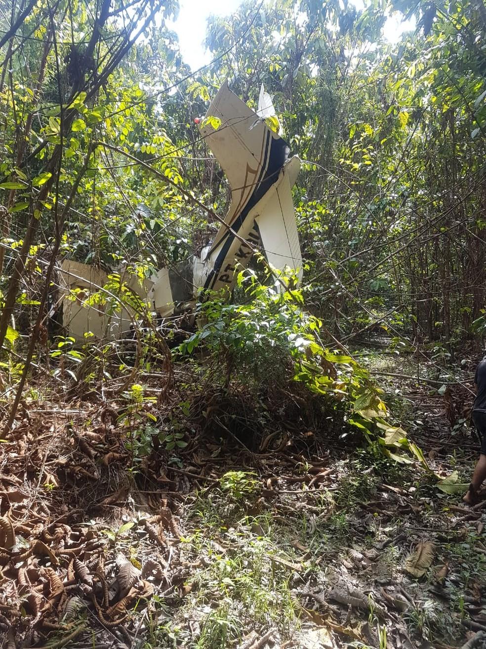 Avião é encontrado após acidente no Pará. — Foto: Reprodução