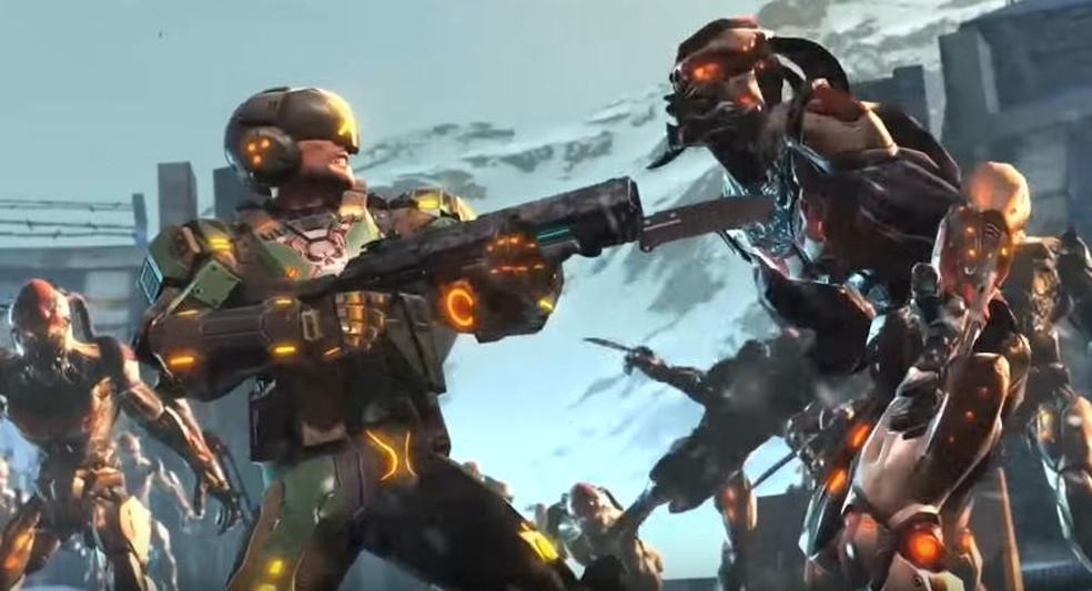 Lute contra os alienígenas invasores em Shadowgun Legends — Foto: Divulgação/MADFINGER Games