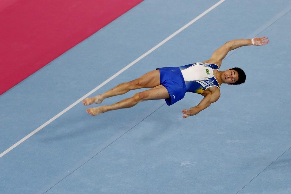 Arthur Nory solo ginástica artística Pan de Lima — Foto: REUTERS/Susana Vera
