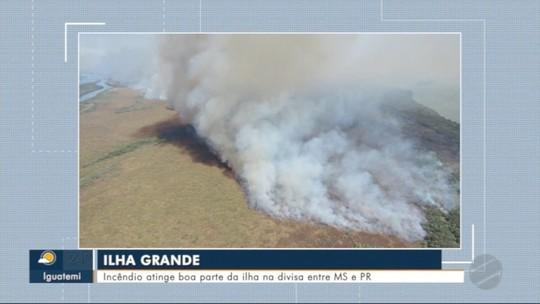 Incêndio atinge Parque Nacional da Ilha Grande há oito dias