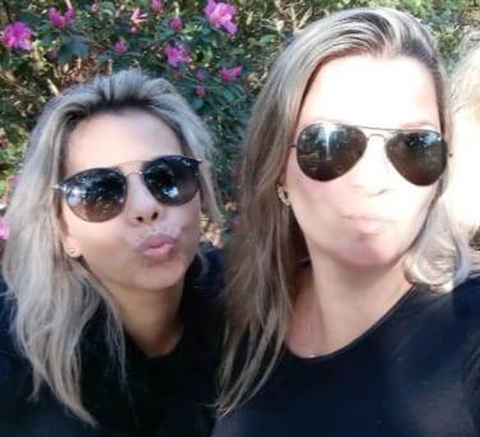 Tatiana Cardoso de Lima (e) e Rochelle Nara Pereira (d) — Foto: Foto: Reprodução/Arquivo Pessoal