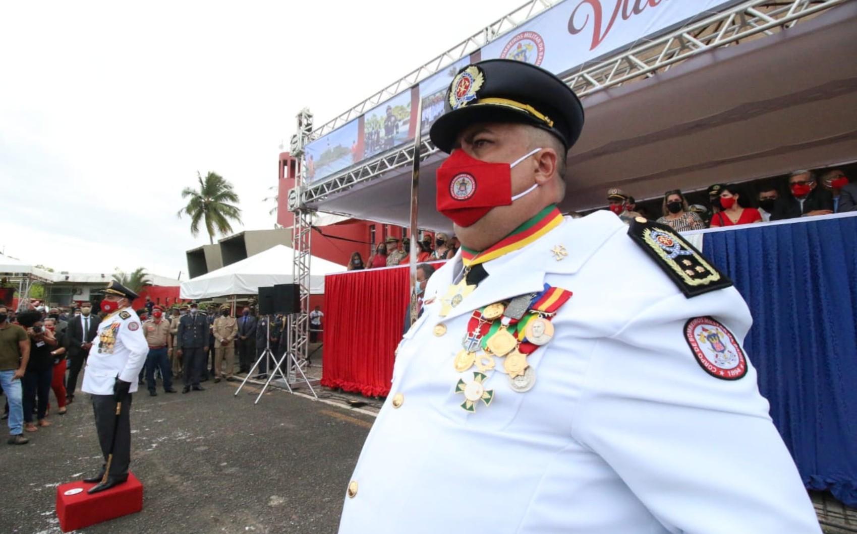 Após anúncio, novo comandante-geral do Corpo de Bombeiros da Bahia toma posse