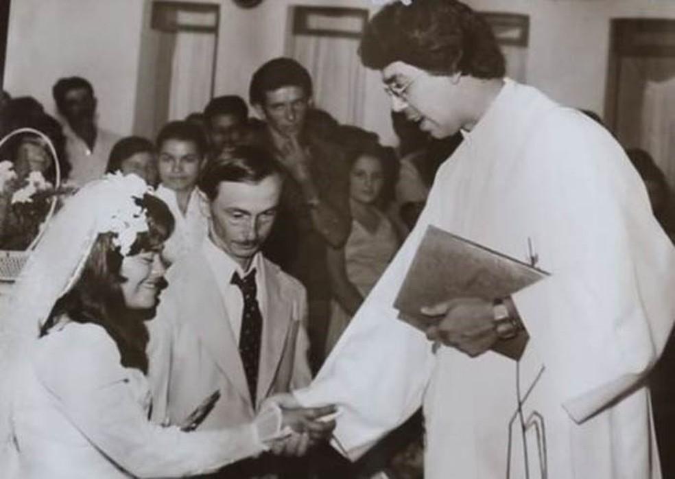 Casamento de Izabel e José — Foto: Reprodução/Alex Duarte/BBC