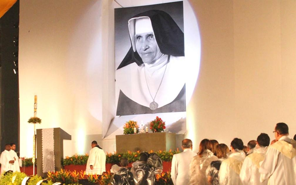 Cerimônia de beatificação de Irmã Dulce ocorreu em 2011. — Foto: Edgar de Souza/G1