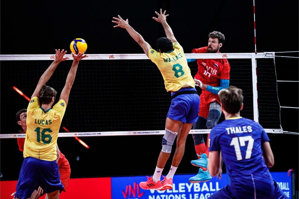Rússia duela contra o Brasil — Foto: Divulgação