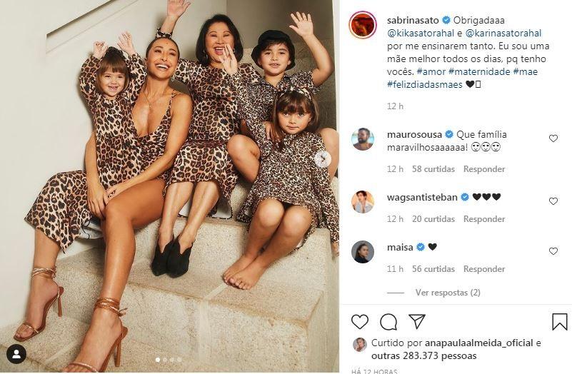 Sabrina Sato celebra o Dia das Mães (Foto: Reprodução / Instagram)