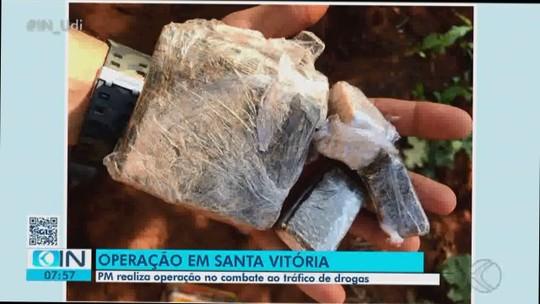 Grupo é detido com drogas e arma de fogo em operação contra tráfico em Santa Vitória