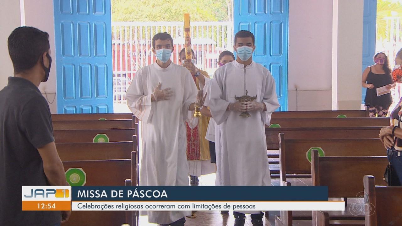 Celebrações religiosas de Páscoa ocorreram com limitações de fieis nas igrejas
