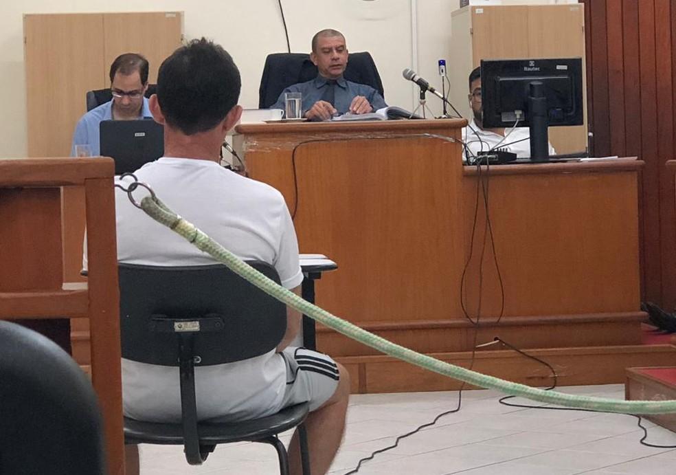 Jorge Martins foi interrogado durante o julgamento.  — Foto: Divulgação/TJ-RO