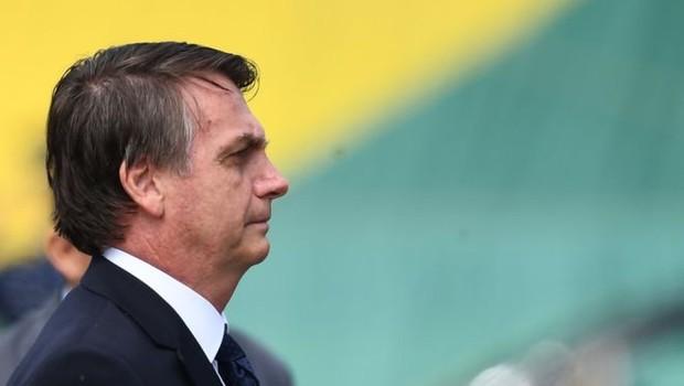 Antes de deixar o hospital Albert Einstein, onde ficou internado por 17 dias, Bolsonaro já falou sobre Bebianno (Foto: EVARISTO SA/AFP/GETTY IMAGES via BBC)