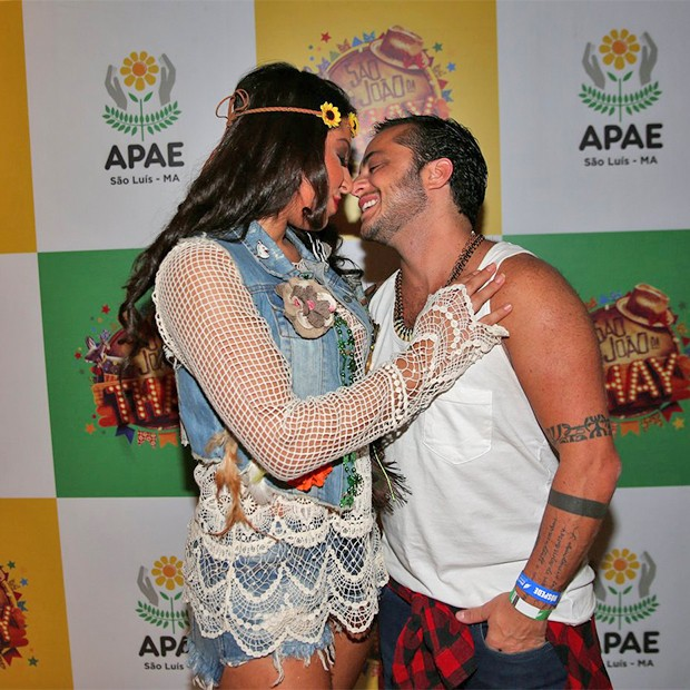 Thammy Miranda e Andressa (Foto: Denilson Santos e Dilson Silva/AgNews)