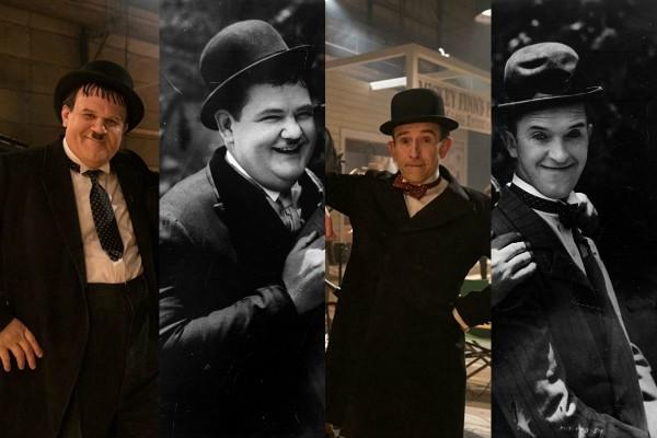 John C. Reily interpreta Oliver Hardy e Steve Coogan vive Stan Laurel em Stan & Ollie (Foto: Getty Images/Divulgação)