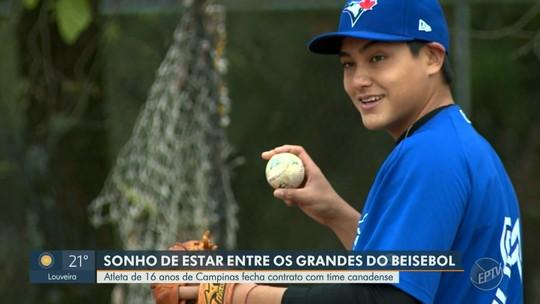 De Campinas para Toronto: jovem de 16 anos assina contrato com time da MLB e realiza sonho do pai