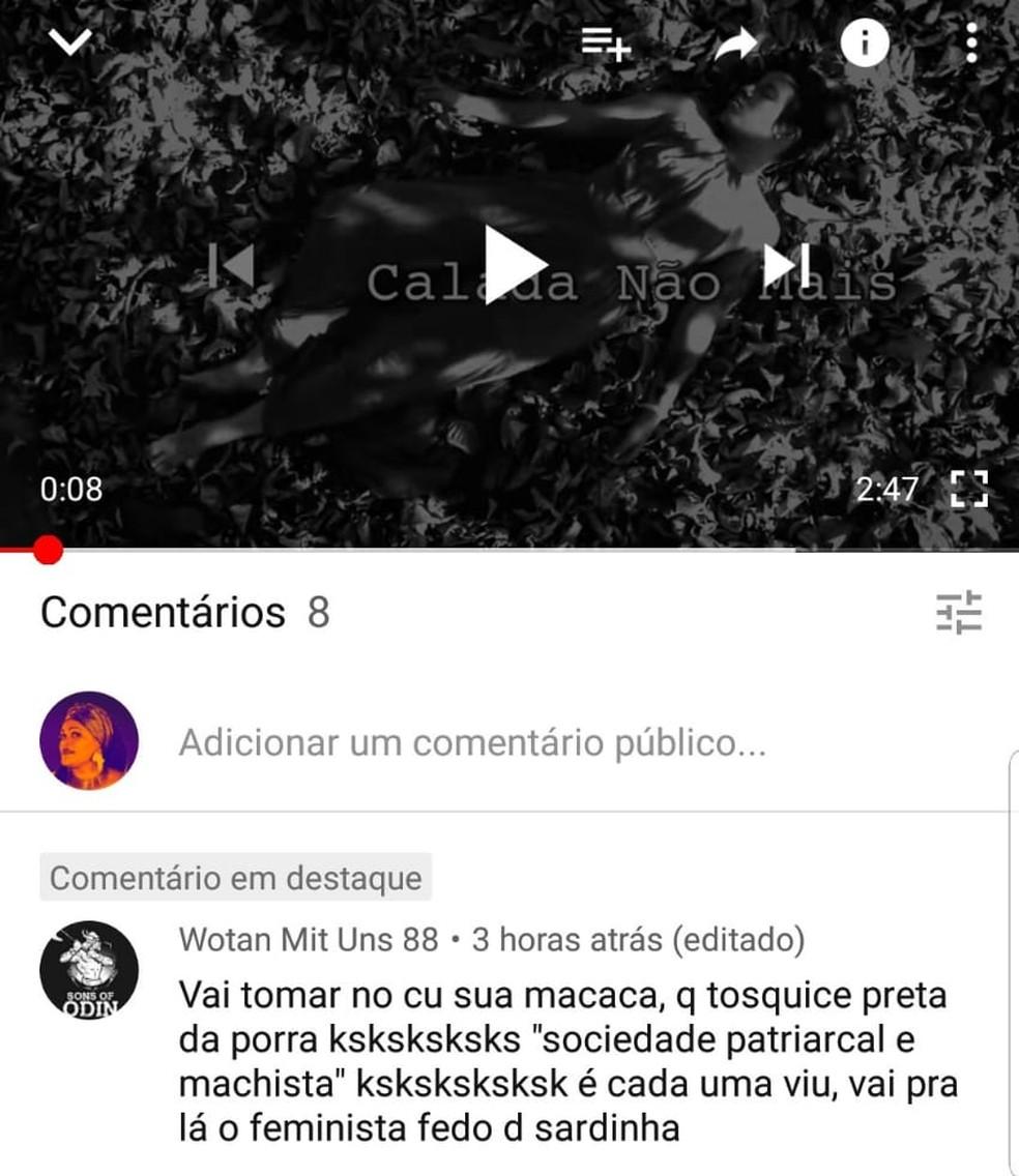 """Rapper Vera Verônika, de Ceilândia, no DF, é alvo de ofensas racistas na publicação do clipe """"Calada não mais"""" na página pessoal do Facebook — Foto: Vera Verônika/Arquivo pessoal"""
