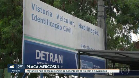 Placas do Mercosul registradas no RJ ainda não são reconhecidas pelo sistema do Detran