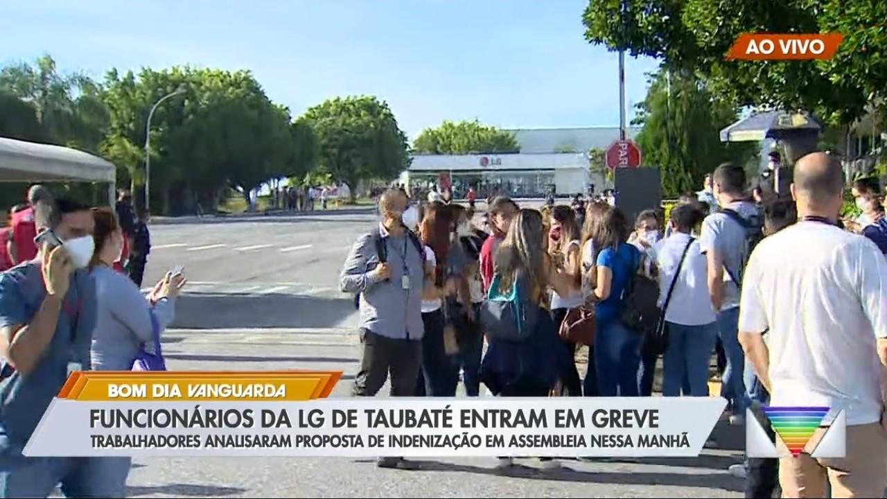Funcionários da LG recusam proposta de indenização e iniciam greve na fábrica em Taubaté