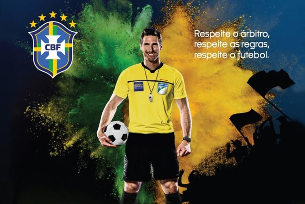Campanha CBF árbitros — Foto: Reprodução
