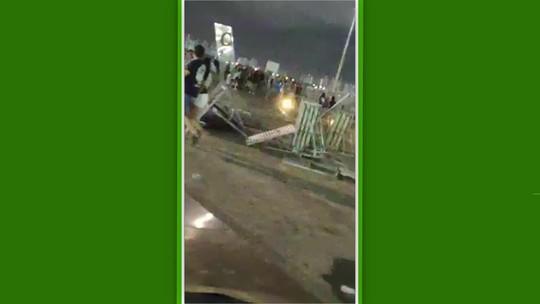 Castelão é depredado e tem placas derrubadas após derrota do Ceará para o Corinthians