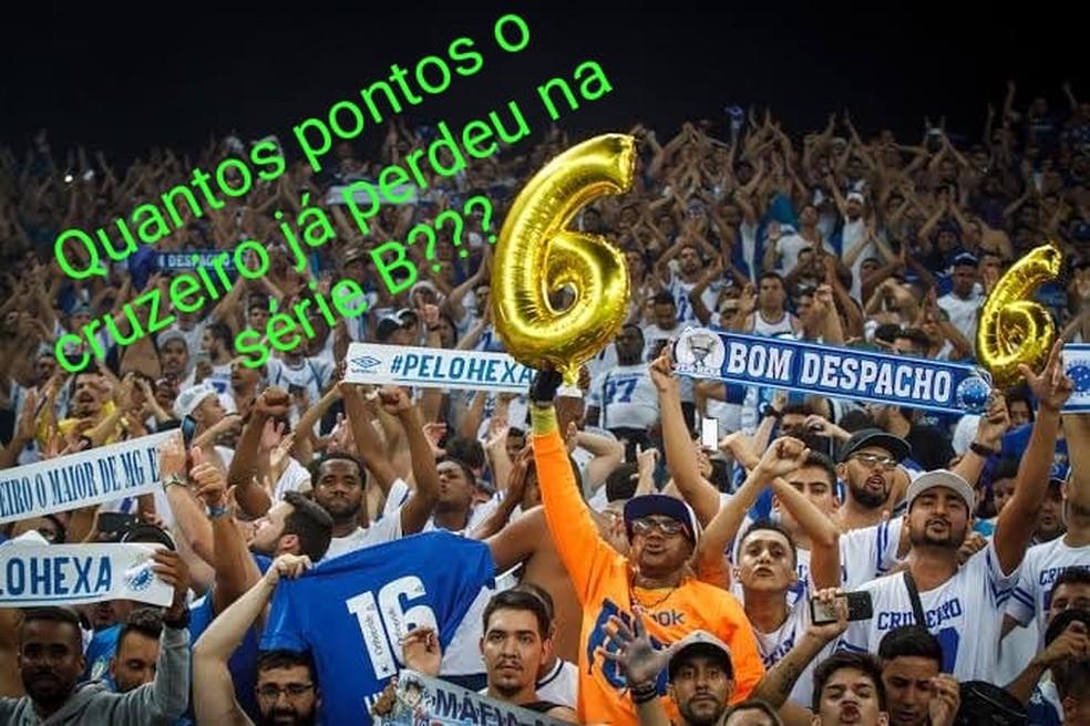 Zoação pela perda de pontos do Cruzeiro — Foto: Reprodução/Internet