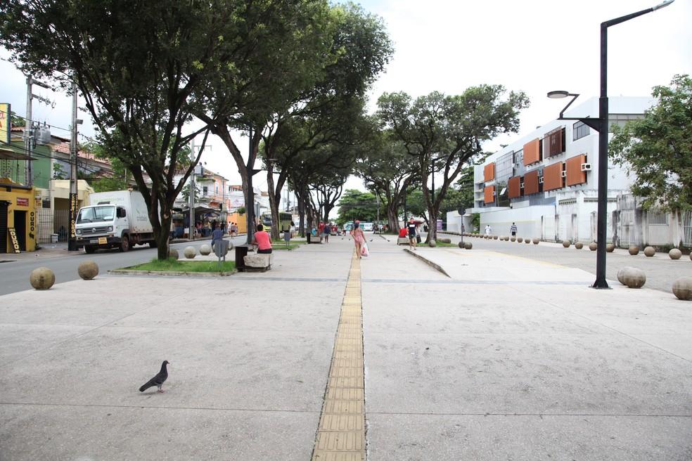 Praça Deodoro, no centro da capital maranhense, nesta segunda-feira (4) — Foto: Rafaelle Fróes/G1 MA