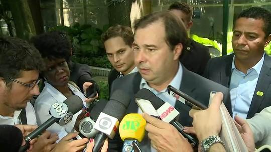 Rodrigo Maia diz que desespero provocado pela violência no Rio o levou a apoiar intervenção