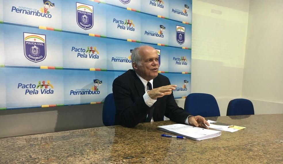 Delegado Ademir Oliveira, gestor interino do DPCA — Foto: Polícia Civil de Pernambuco/Divulgação