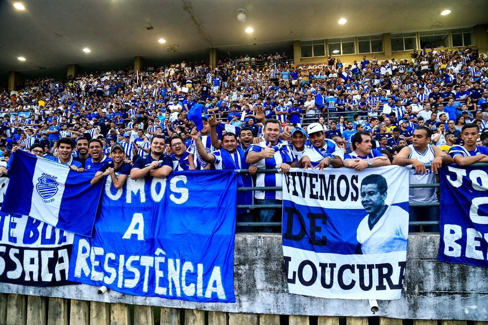 a5f311b95 ... Torcida do CSA comemorando diante do Fortaleza — Foto  Ailton  Cruz Gazeta de Alagoas