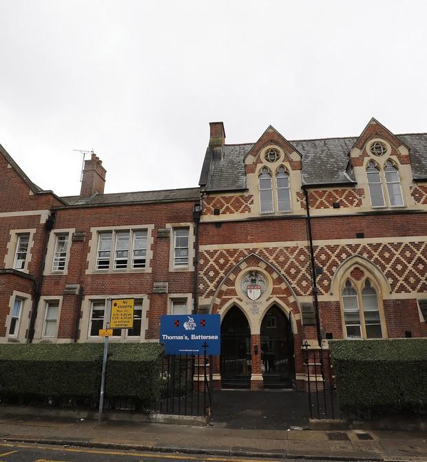 Fachada da Thomas's Battersea, escola onde estuda o príncipe George (Foto: Getty Images)