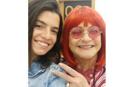 Fernanda e Fafy nos bastidores de  Reprodução/Instagram