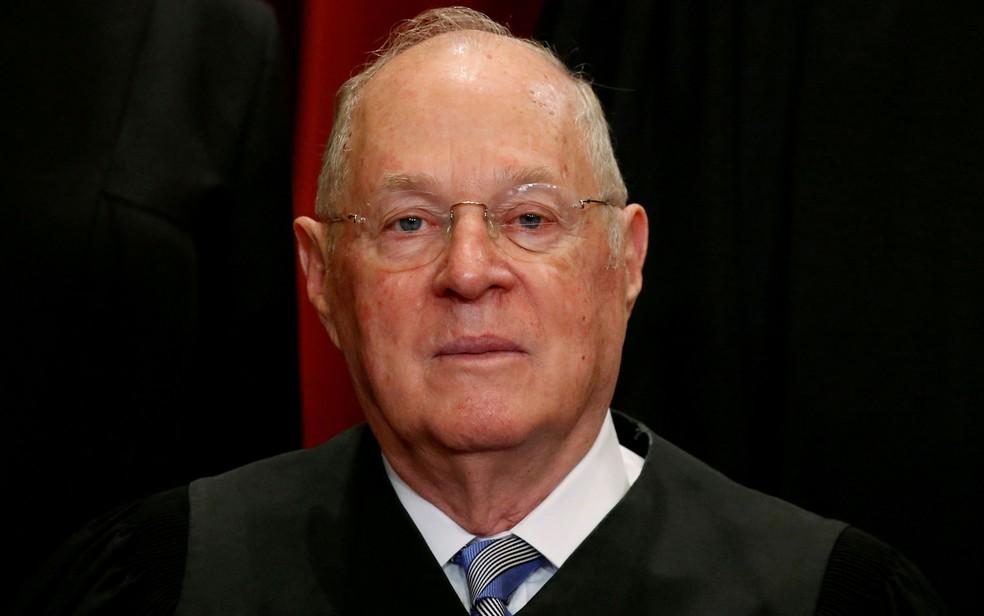 O juiz da Suprema Corte dos EUA Anthony Kennedy em foto de 1º de junho de 2017 (Foto: Reuters/Jonathan Ernst/Files)