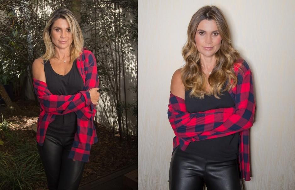 Flávia Alessandra antes e depois da transformação  (Foto: Divulgação)