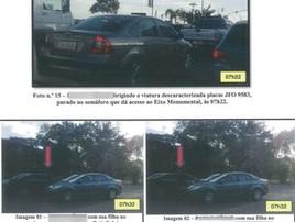 Legistas levam filhos a escola com carro oficial e são flagrados (PCDF/Reprodução)