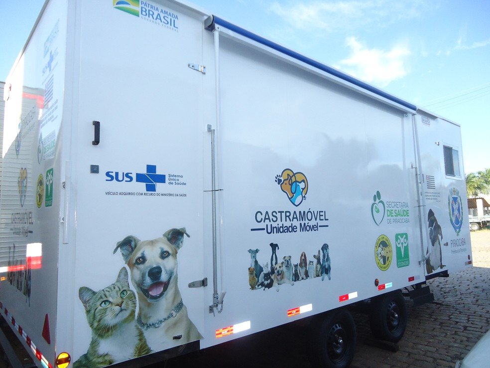 Castramóvel: segundo prefeitura, parceria levará atendimento a animais de comunidades  — Foto: Divulgação/ Prefeitura de Piracicaba