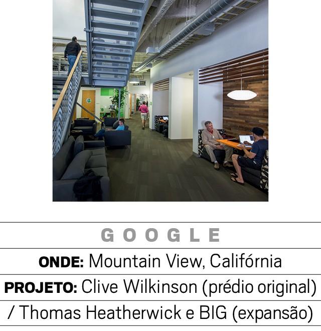 """Googleplex, a sede da empresa foi um dos primeiros prédios do Vale do Silício a adotar a ideia de """"campus universitário"""", ainda em 2004, deixando disponível para o funcionário amenidades como refeitórios, bicicleta (Foto: Getty image)"""