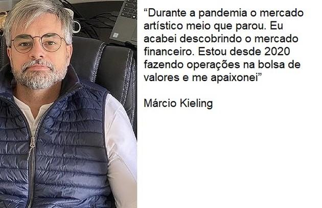 Márcio Kieling descobriu uma nova profissão para conciliar com a de ator (Foto: Reprodução)