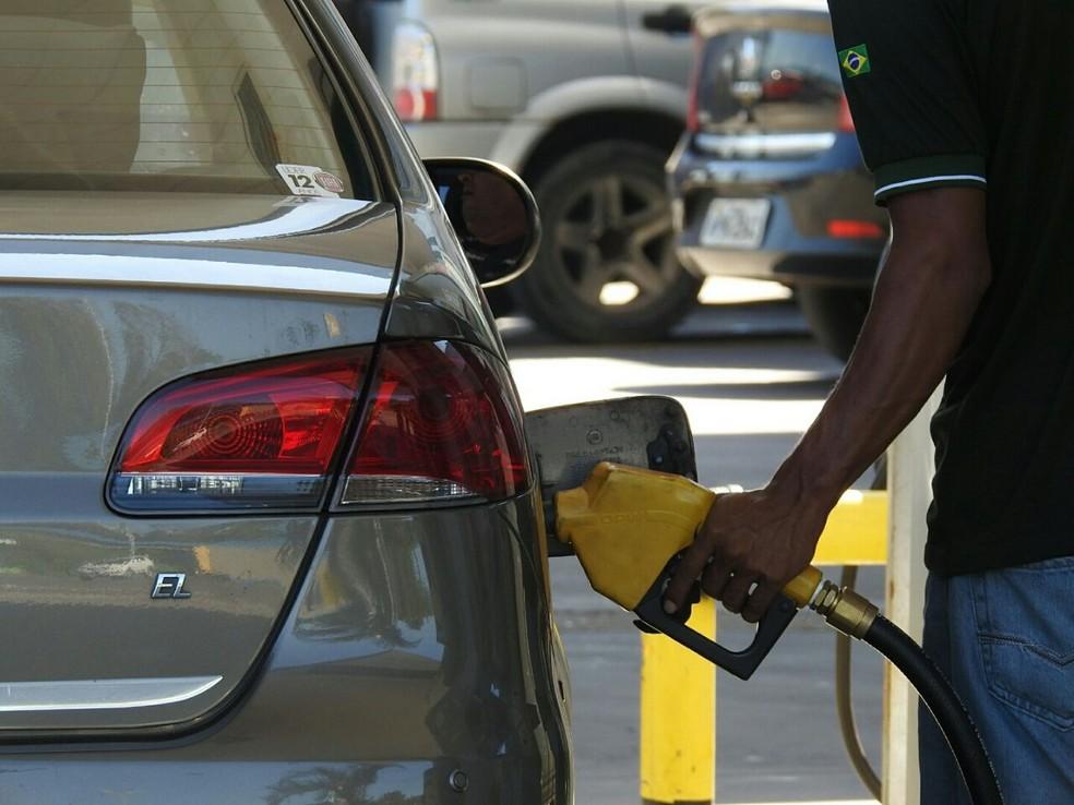 Posto de gasolina em Manaus — Foto: Adneison Severiano/G1 AM