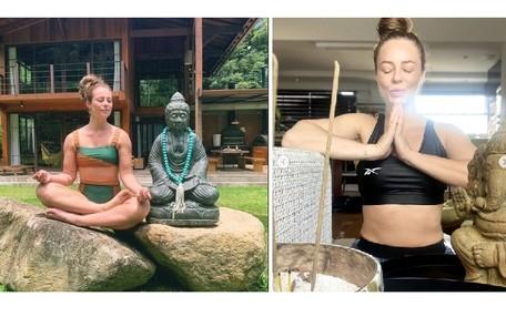 A atriz costuma compartilhar fotos em seus cantinhos de meditação no sítio Reprodução/Instagram
