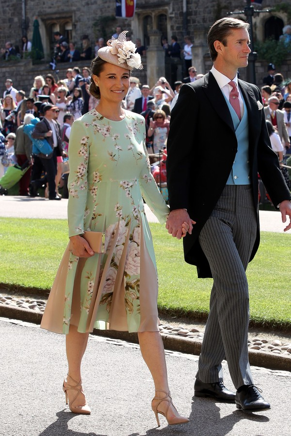 WINDSOR, UNITED KINGDOM - MAY 19:  Pippa Middleton and James Matthews arrive for the wedding ceremony of Britain's Prince Harry and US actress Meghan Markle at St George's Chapel, Windsor Castle on May 19, 2018 in Windsor, England. (Photo by Chris Radburn (Foto: Getty Images)