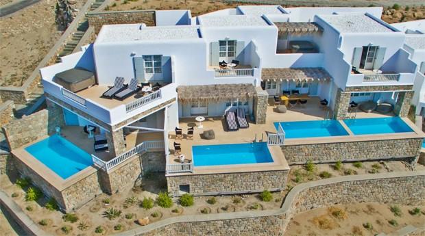 Hotel em Mykonos, na Grécia (Foto: Divulgação)