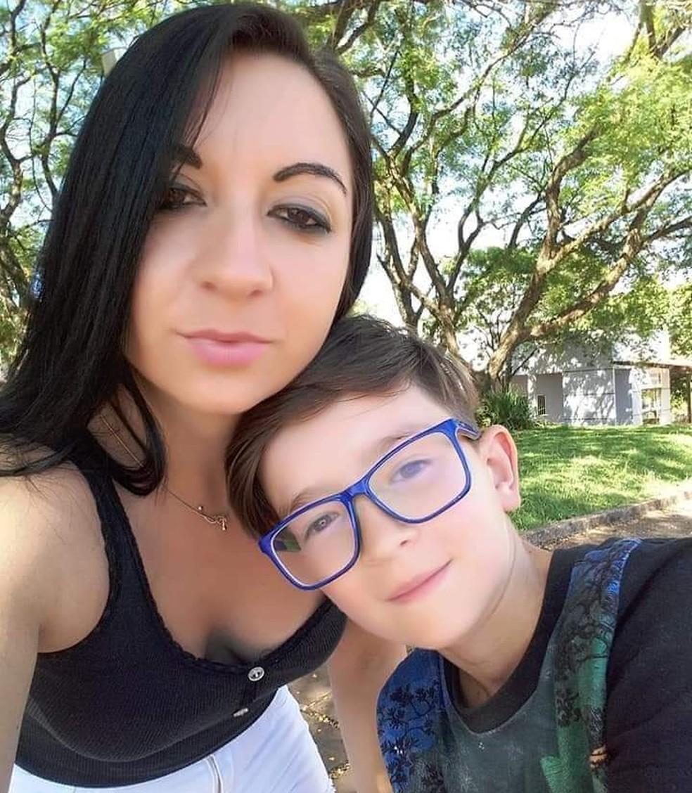 Mãe de Rafael Mateus Winques confessou morte do filho, disse a polícia. — Foto: Polícia Civil/Divulgação