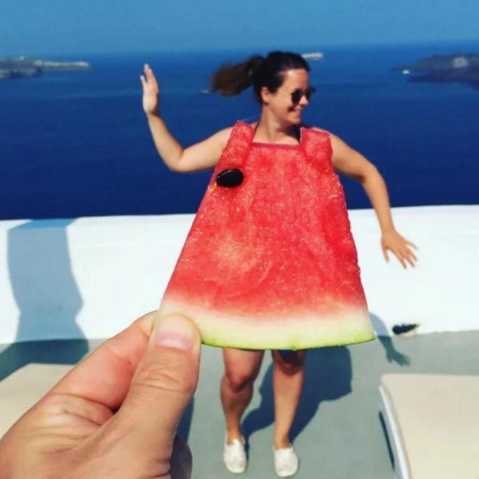 Vestindo-se de melancia