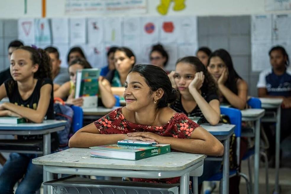Alunos da rede pública de Belo Jardim — Foto: Assessoria/Divulgação