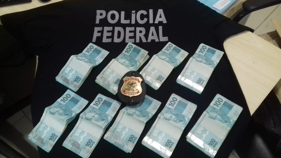 Dinheiro apreendido na Operação Escalada — Foto: Polícia Federal de Mato Grosso/Assessoria